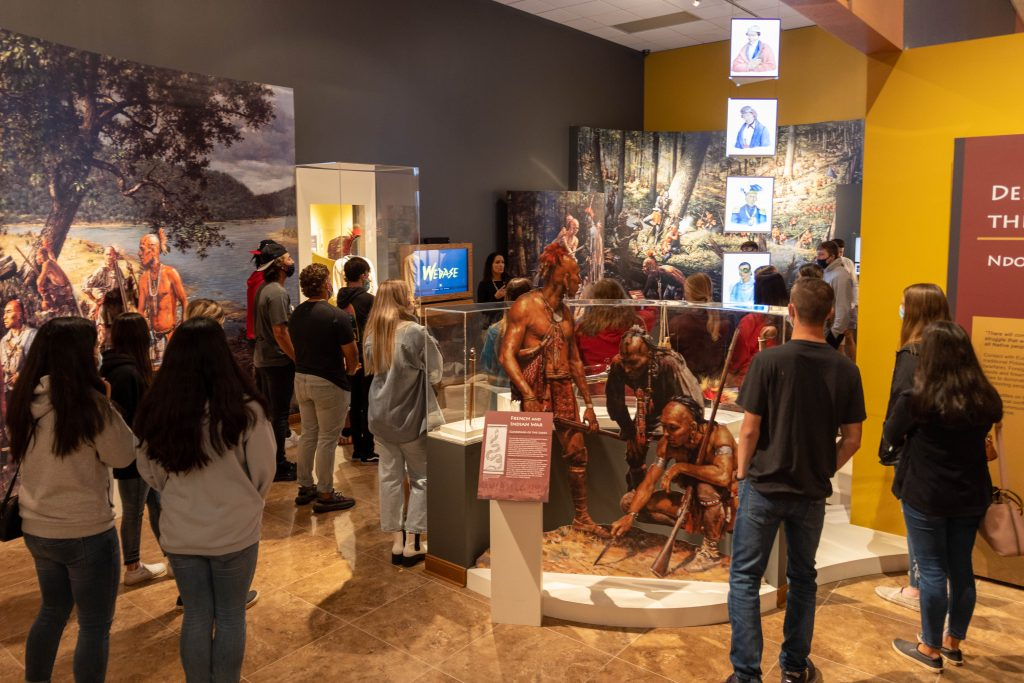 Members of the Seminole State College President's Leadership Class tour the Citizen Potawatomi Nation Cultural Center.