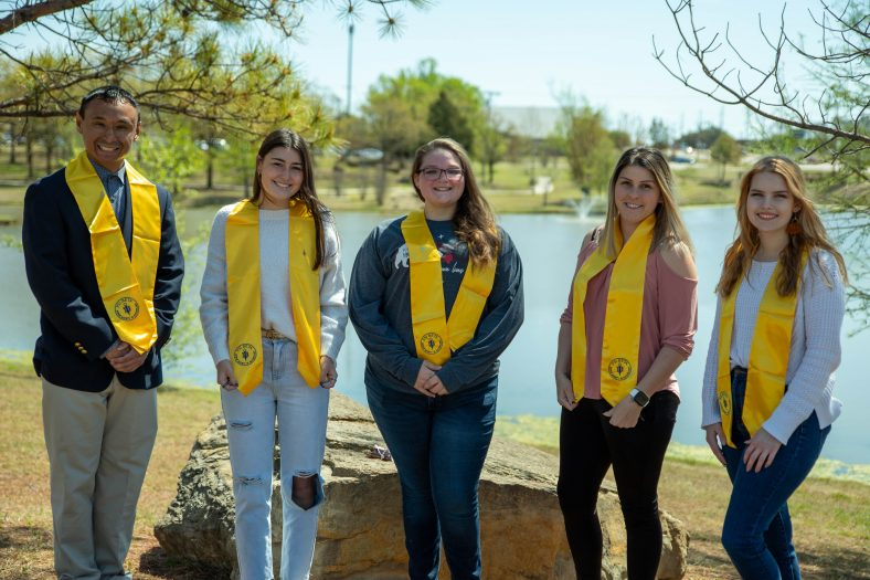 The SSC Psi Beta honor society recently inducted seven new members. Pictured (l-r): A-yo Jones, Emily Ridley, Kimberly Durr, Harmony Gillespie, Taryn Washburn. Not pictured but also inducted this year: Dominic Green and Bethany Randall.