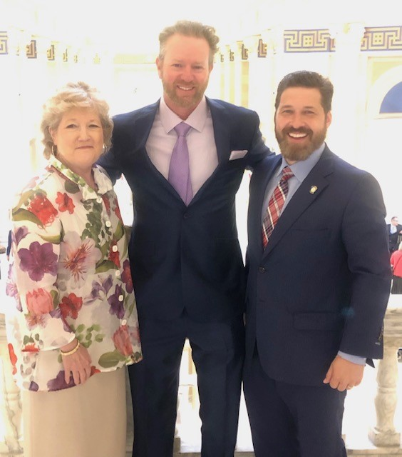 Ryan Franklin was recently reappointed to the SSC Board of Regents by Governor Stitt. Pictured (l-r) SSC President Lana Reynolds, SSC Regent Ryan Franklin and Oklahoma State Senator Shane Jett (R-Shawnee).